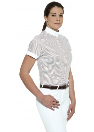Ladies Riding Satin Shirt - Short sleeves