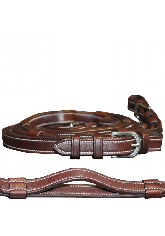 Leather reins with handles F&C