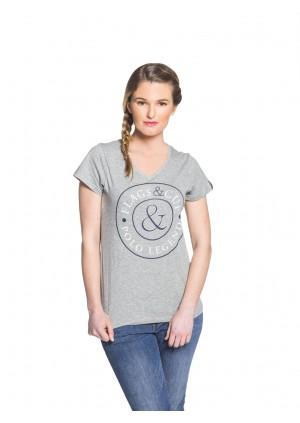 T-Shirt Dame ANTIGUA Gris chiné
